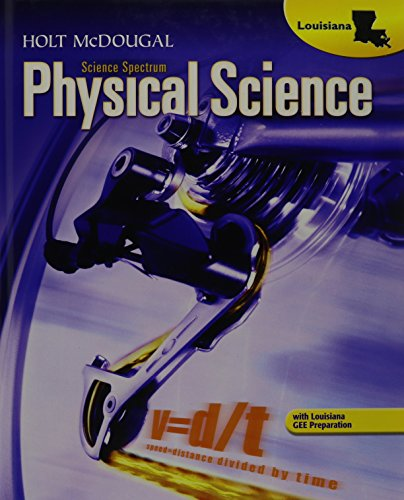 9780547465593: Holt McDougal Science Spectrum: Physical Science Louisiana: Student Edition 2012