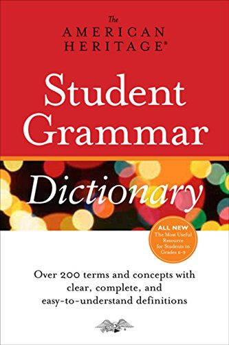 9780547472652: The American Heritage Student Grammar Dictionary