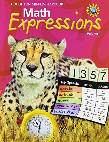 9780547473925: Math Expressions: Student Activity Book (Consumable), Volume 1 Grade 5 2011