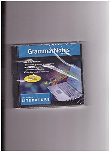 9780547475264: Holt McDougal Literature Grammar Notes Level one DVD-Grades 6-8