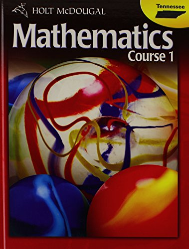 9780547476766: Holt McDougal Middle School Math Tennessee: Student Edition Course 1 2012
