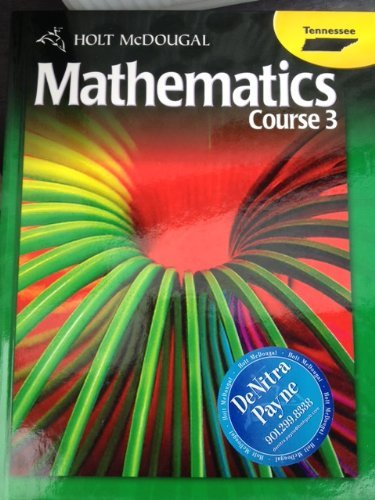 9780547476827: Holt McDougal Middle School Math Tennessee: Student Edition Course 3 2012
