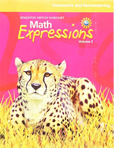 9780547479460: Math Expressions: Homework and Remembering (Consumable), Volume 2 Grade 5