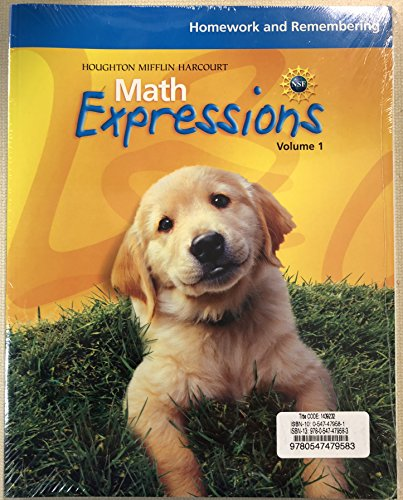 9780547479583: Math Expressions, Grade K Homework and Remembering Consumable Bundle: Houghton Mifflin Harcourt Math Expressions