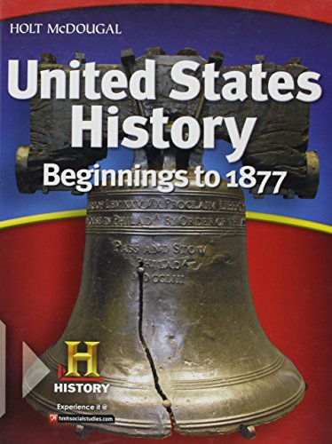 9780547484693: United States History: Student Edition Beginnings to 1877 2012