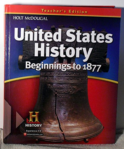 9780547484785: United States History: Teacher Edition Beginnings to 1877 2012