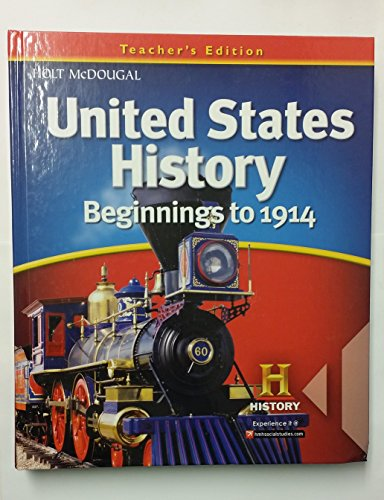 9780547484815: United States History: Teacher Edition Beginnings to 1914 2012