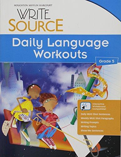 9780547485164: Write Source: Daily Language Workouts Grade 5