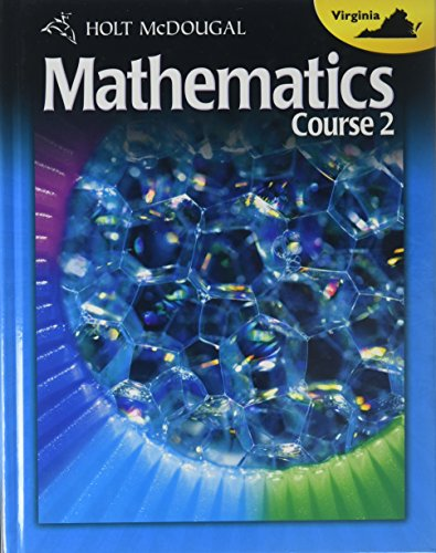 9780547485461: Holt McDougal Middle School Math Virginia: Student Edition Course 2 2012