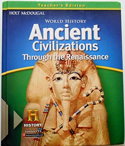 9780547485942: World History: Teacher Edition Ancient Civilizations Through the Renaissance 2012