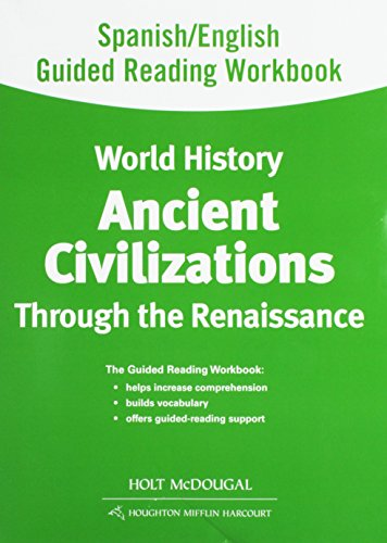 9780547513072: World History: Spanish/English Guided Reading Workbook Ancient Civilizations Through the Renaissance