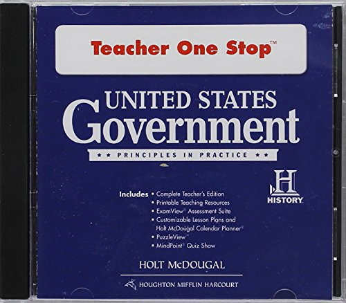 9780547520520: United States Government: Principles in Practice: Teacher One Stop DVD-ROM