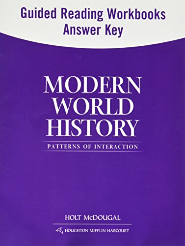 9780547521008: Modern World History: Patterns of Interaction: Guided Reading and Spanish/English Guided Reading Workbooks Answer Key (Spanish Edition)