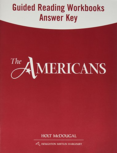 9780547521213: The Americans: Guided Reading and Spanish/English Guided Reading Workbooks Answer Key Survey (Spanish Edition)