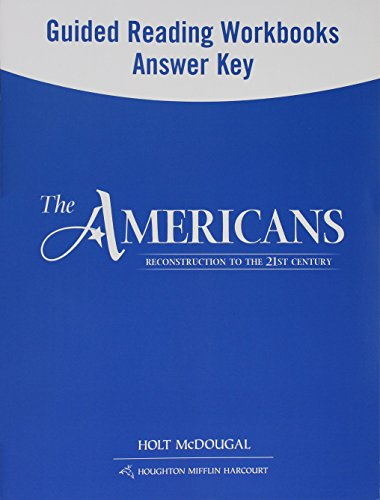 9780547521220 the americans guided reading and spanish english rh abebooks com McDougal Gym McDougal Magazine
