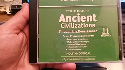 9780547522203: World History: PowerNotes Presentations with Media Gallery DVD-ROM Ancient Civilizations Through the Renaissance