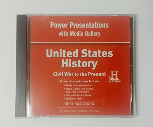 9780547522999: United States History: Power Presentations with Media Gallery DVD-ROM Civil War to Present