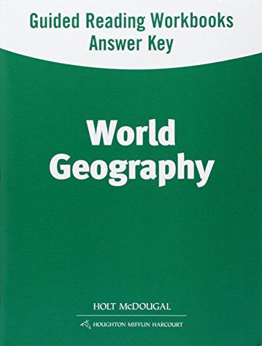 9780547535203: World Geography: Spanish/English Guided Reading Workbook Answer Key Survey (Spanish Edition)