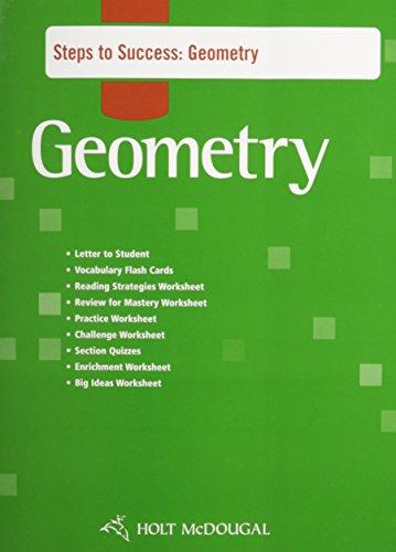 Holt McDougal Geometry: Steps to Success: MCDOUGAL, HOLT