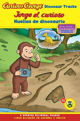 9780547557984: Curious George Dinosaur Tracks/Jorge El Curioso Huellas de Dinosaurio (Green Light Reader - Bilingual Level 1 (Quality))