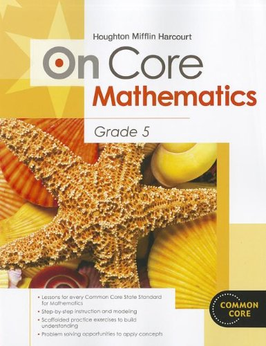 9780547575209: Houghton Mifflin Harcourt On Core Mathematics: Student Workbook Grade 5