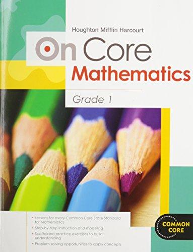 9780547575223: Houghton Mifflin Harcourt On Core Mathematics: Student Workbook Grade 1
