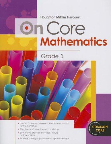 9780547575230: Houghton Mifflin Harcourt On Core Mathematics: Student Workbook Grade 3