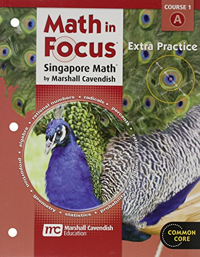 9780547578965: Math in Focus: Singapore Math: Extra Practice, Book A Course 1