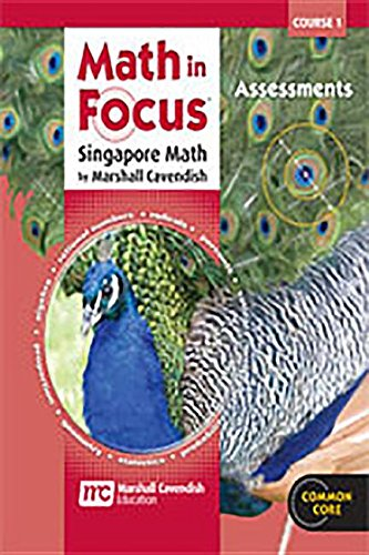 9780547579030: Math in Focus: Singapore Math: Assessments Course 1