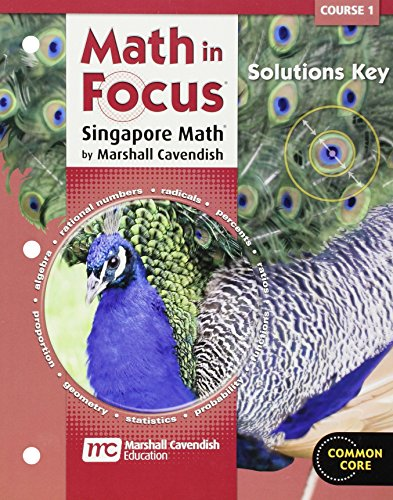 9780547579108: Math in Focus: Singapore Math Course 1: Solutions Key