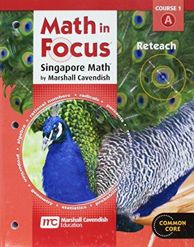 9780547579160: Math in Focus: Singapore Math: Reteach Book Course 1a