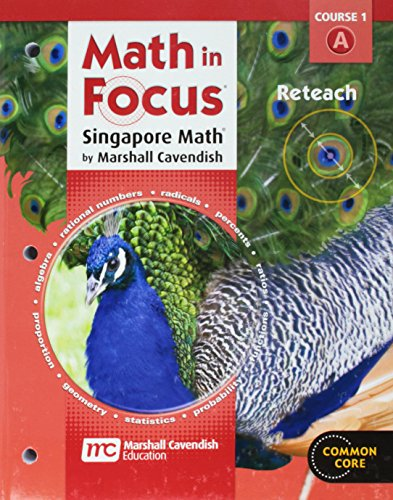 9780547579160: Math in Focus: Singapore Math: Reteach, Book A Course 1