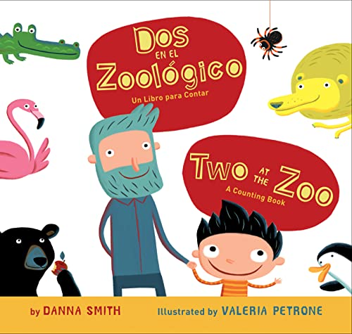 9780547581378: Dos en el zoologico/Two at the Zoo bilingual board book (Spanish and English Edition)