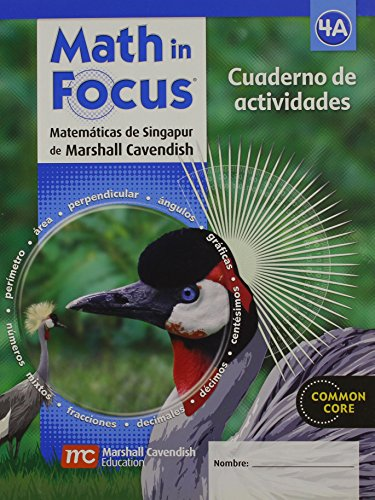 9780547582702: Math in Focus: Singapore Math, Spanish: Student Workbook Grade 4 Book A (Spanish Edition)
