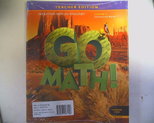 9780547587158: GO MATH! Teacher Edition Grade 5 Chapters 1-11 Pack Common Core Isbn 9780547587158 0547587155