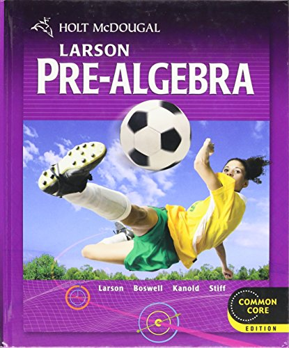 9780547587776: Holt McDougal Larson Pre-Algebra: Student Edition 2012