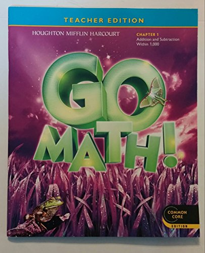 9780547591018: Teacher Edition, Go Math!, 3rd Grade, Chapter 1, Common Core Edition
