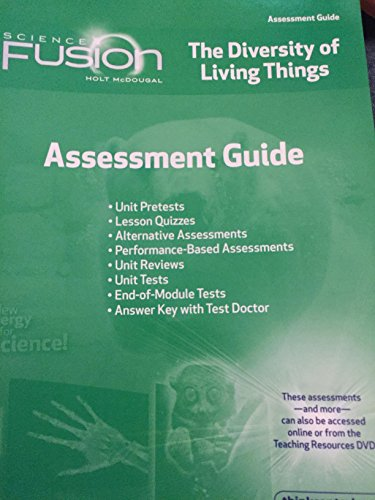 9780547593142: ScienceFusion: Assessment Guide Grades 6-8 Module B: The Diversity of Living Things
