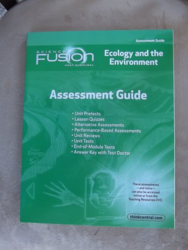 9780547593241: ScienceFusion: Assessment Guide Module D Grades 6-8 Module D: Ecology and The Environment