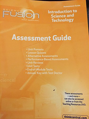 9780547593500: ScienceFusion: Assessment Guide Grades 6-8 Module K: Introduction to Science and Technology