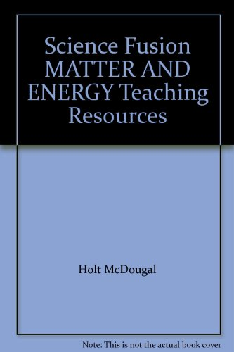 9780547595184: ScienceFusion: Teaching Resource DVD, English/Spanish Grades 6-8 Module H: Matter and Energy