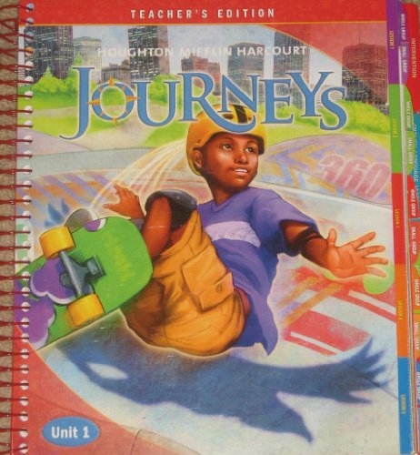 9780547608556: Houghton Mifflin Harcourt Journeys Reading Adventure: Teacher's Edition Unit 1 Grade 6 2012