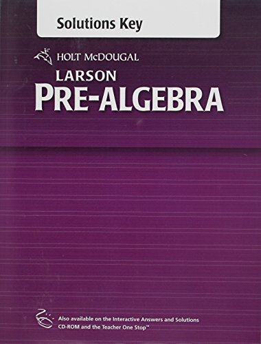 9780547614458: Holt McDougal Larson Pre-Algebra: Common Core Solutions Key