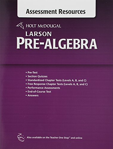 9780547614748: Holt McDougal Larson Pre-Algebra: Common Core Assessment Resources with Answers