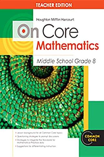 9780547617503: Houghton Mifflin Harcourt On Core Mathematics: Teacher's Guide Grade 8 2012