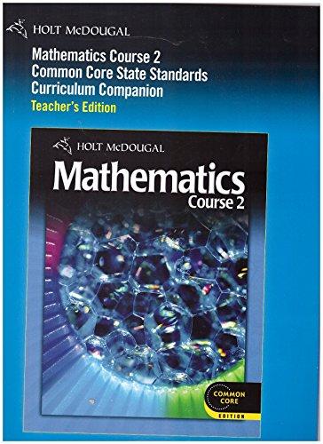 Mathematics Course 2 Common Core State Standards: Jennie M. Bennett