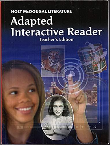 9780547619538: Holt McDougal Literature: Adapted Interactive Reader Teacher's Edition Grade 8 by HOLT MCDOUGAL (2011-01-13)