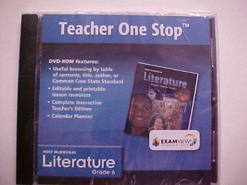 9780547619972: Holt McDougal Literature Grade 6 Teacher One Stop DVD-ROM