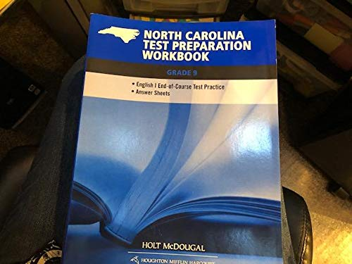 9780547621357: Holt McDougal Literature North Carolina: Test Prep Workbook Grade 9