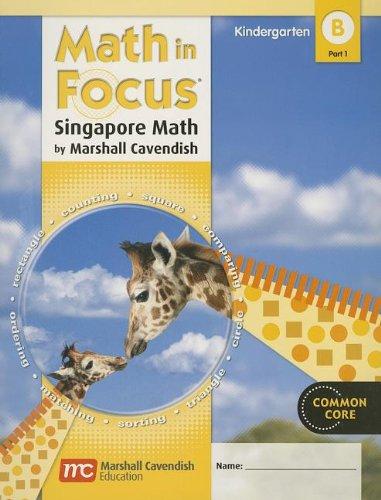 9780547625249: Math in Focus: Singapore Math, Book B Part 1 Grade K
